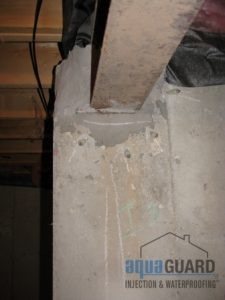 Foundation Crack Sealing Aquaguard Injection